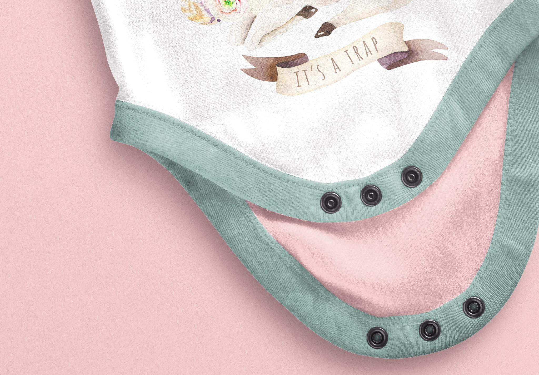 Baby Vest Open Mockup image04