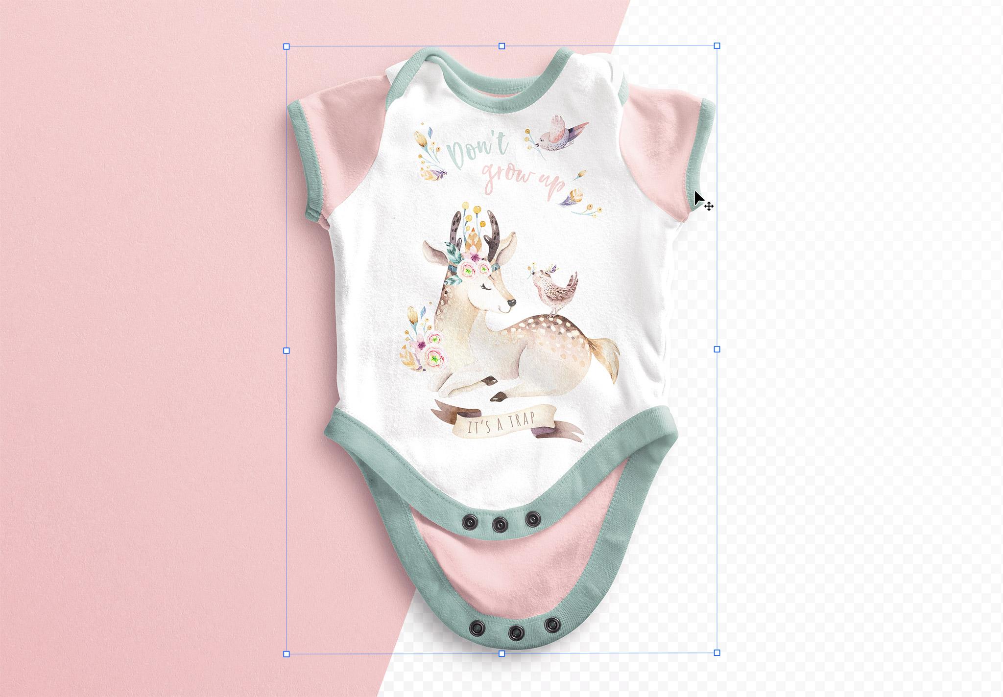 Baby Vest Open Mockup thumbnail 1
