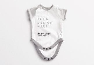Baby Vest Open Mockup thumbnail