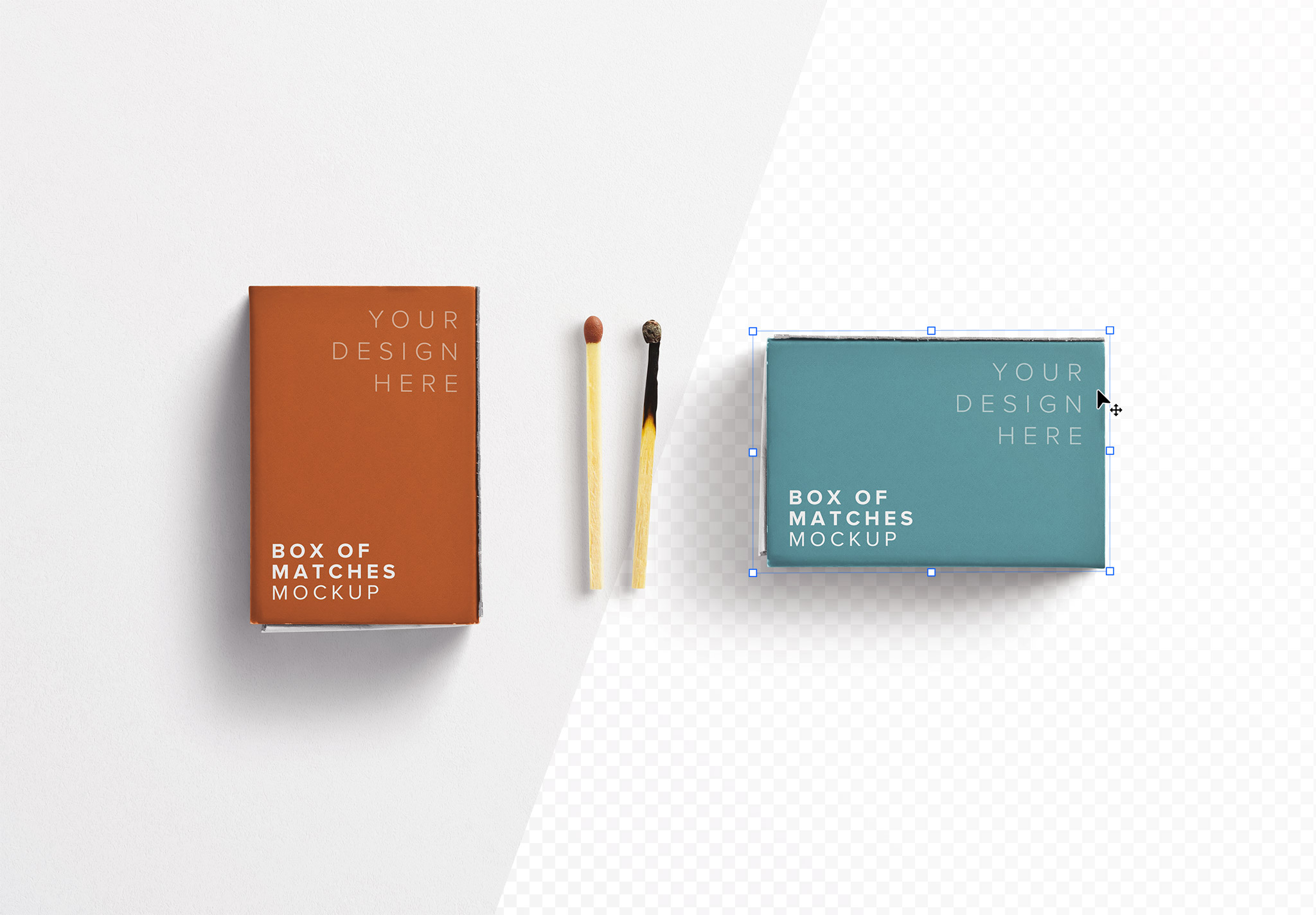 Box Matches Mockup image01