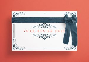 Card With Ribbons Mockup 1 image03