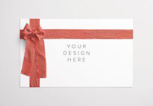 Card With Ribbons Mockup 1 thumbnail