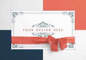 Card With Ribbons Mockup 3 image02