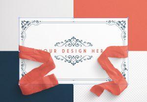 Card With Ribbons Mockup 4 image02