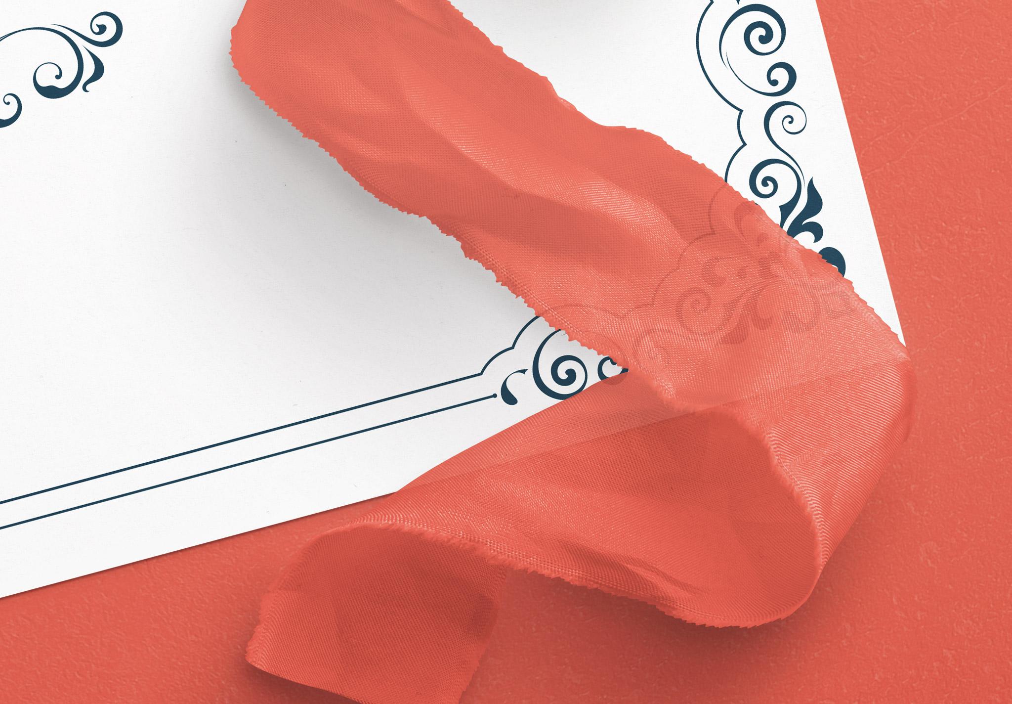 Card With Ribbons Mockup 4 image04