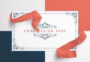 Card With Ribbons Mockup 5 image02