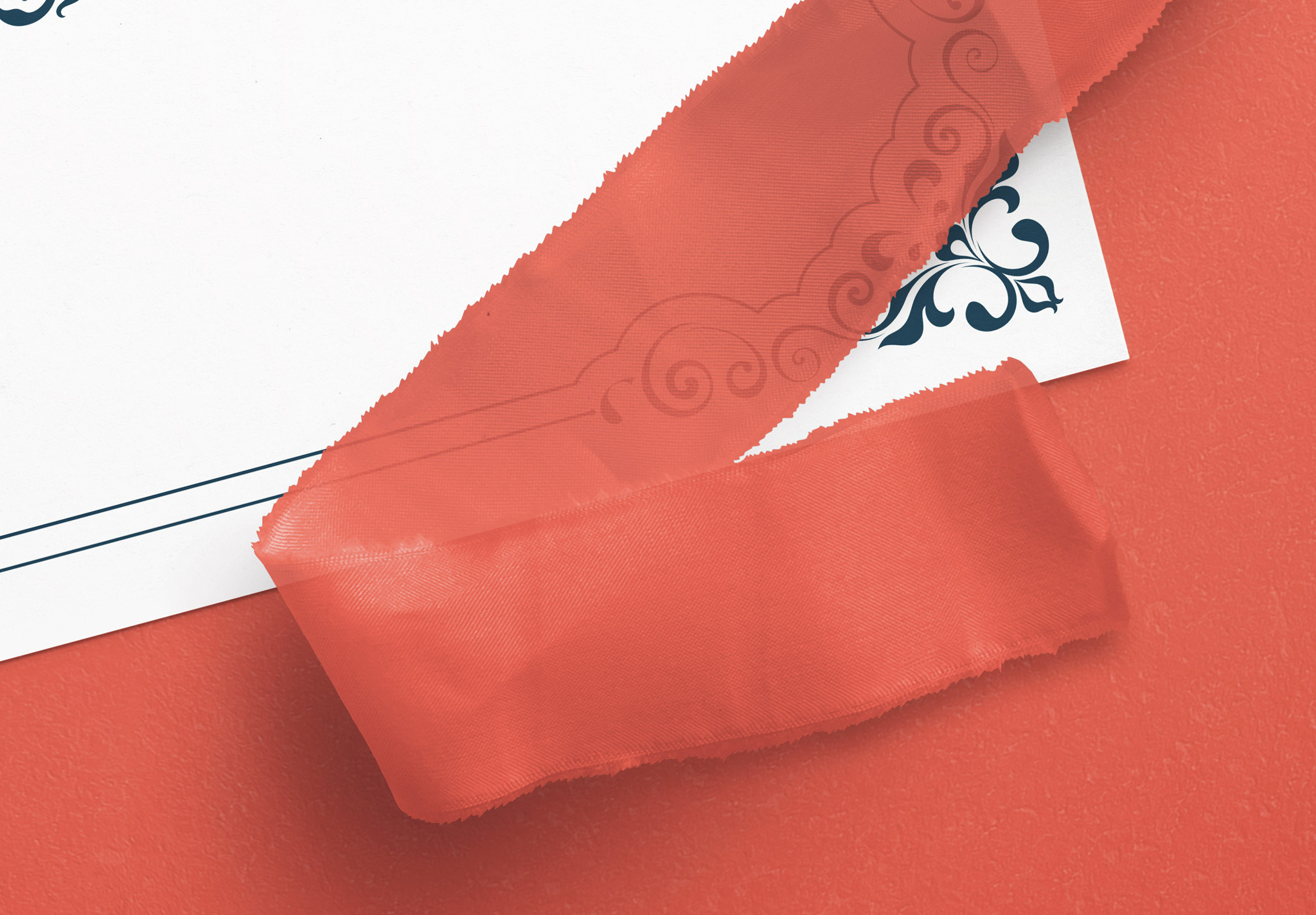Card With Ribbons Mockup 5 image04