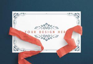 Card With Ribbons Mockup 6 image01