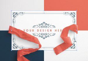 Card With Ribbons Mockup 6 image02