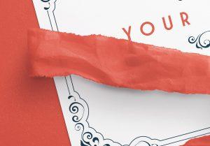 Card With Ribbons Mockup 6 image04