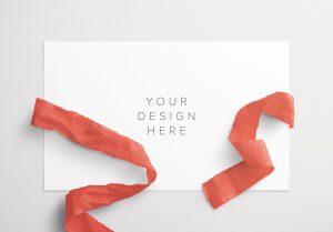 Card With Ribbons Mockup 6 thumbnail
