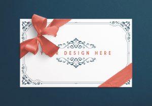 Card With Ribbons Mockup 7 image01