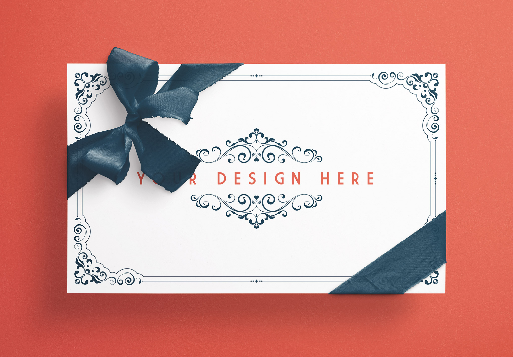 Card With Ribbons Mockup 7 image03