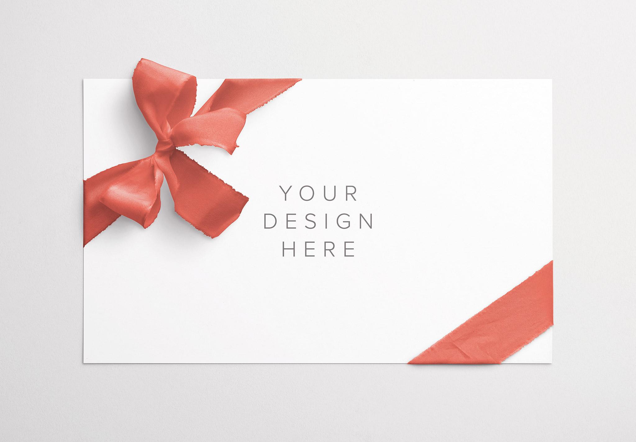 Card With Ribbons Mockup 7 thumbnail