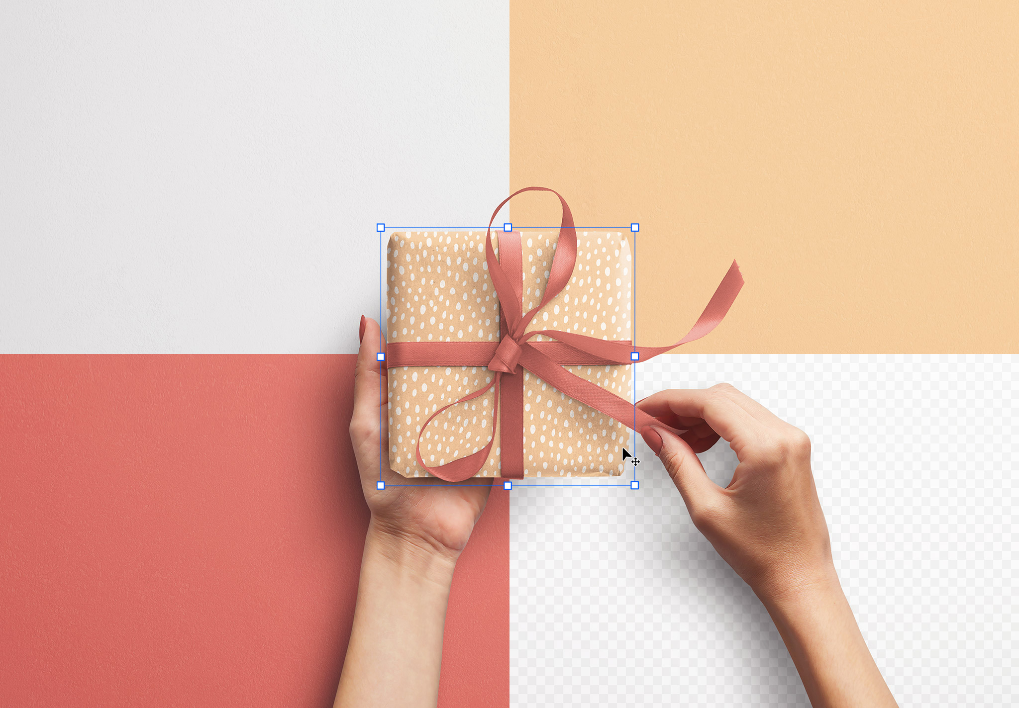 Hands Holding Gift Box image02