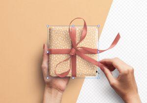 Hands Holding Gift Box thumbnail 1
