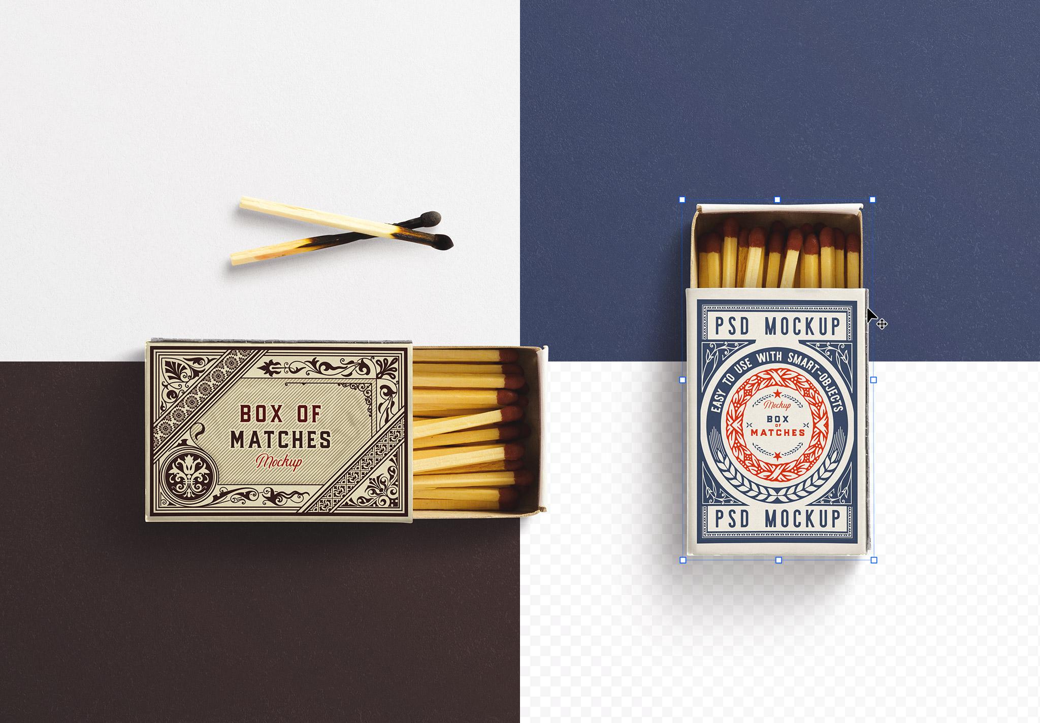 Open Box Matches Mockup image02