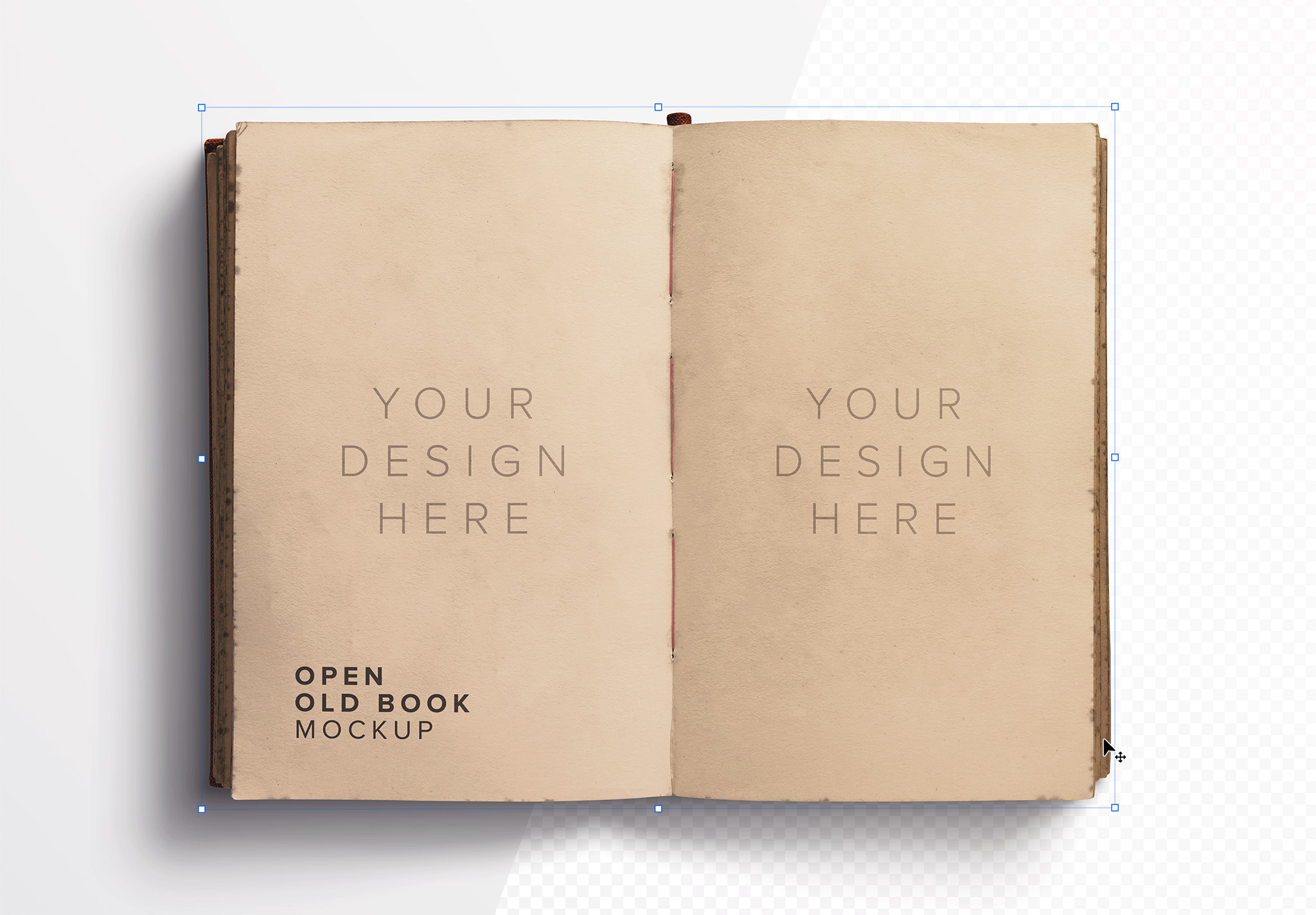 Open Old Book Mockup image01