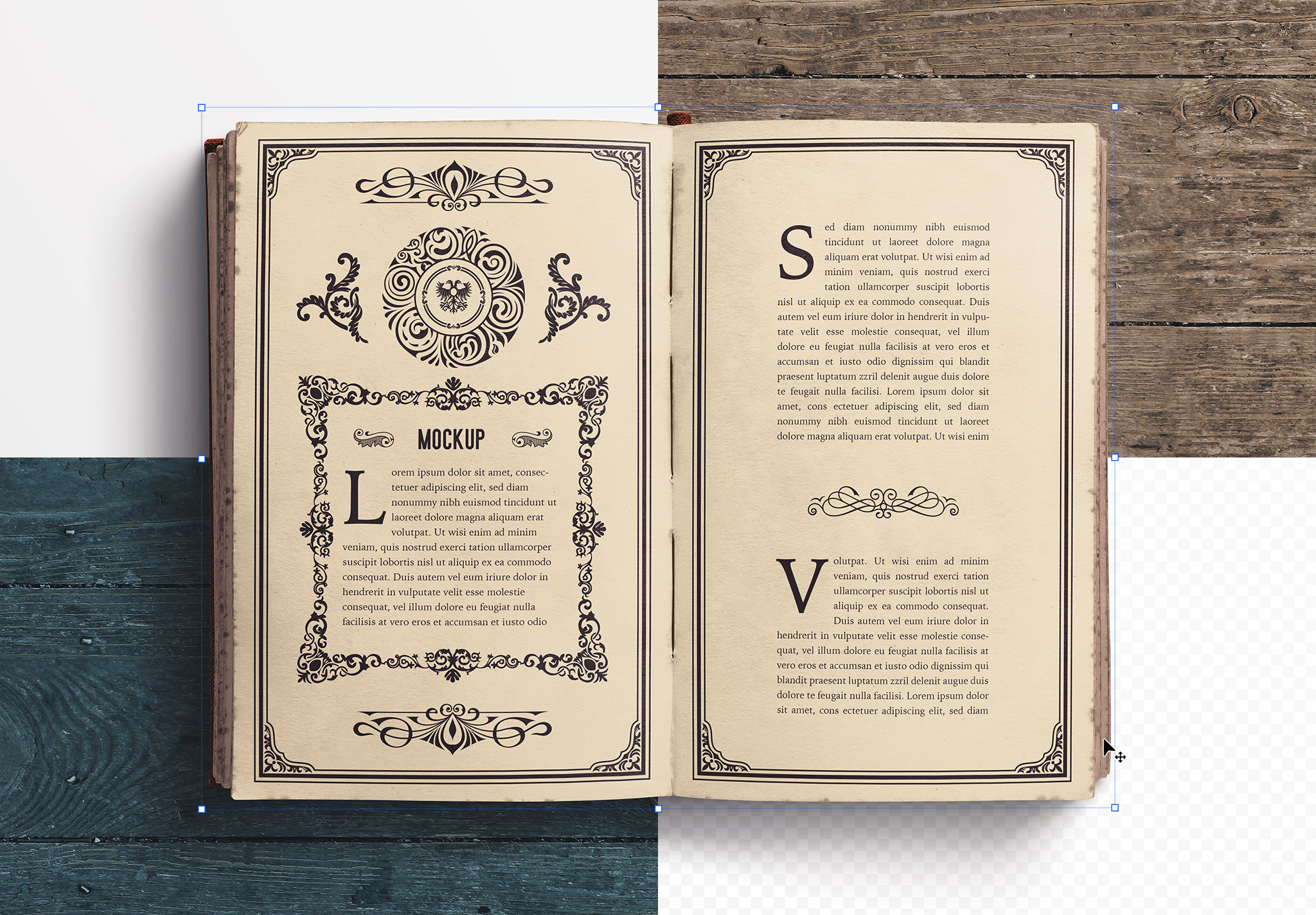 Open Old Book Mockup image02