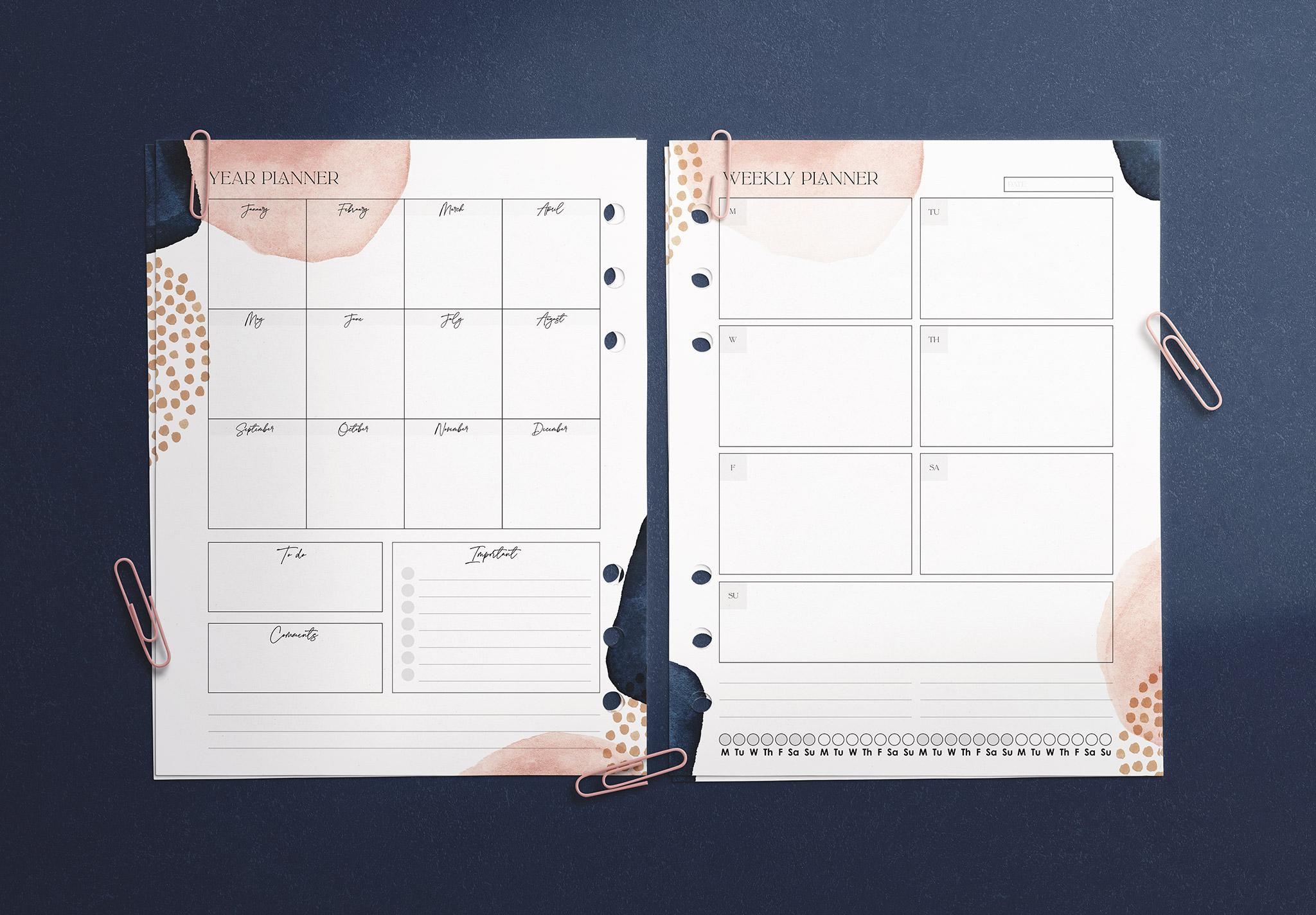 Planner Inserts US Letter Size Mockup image03