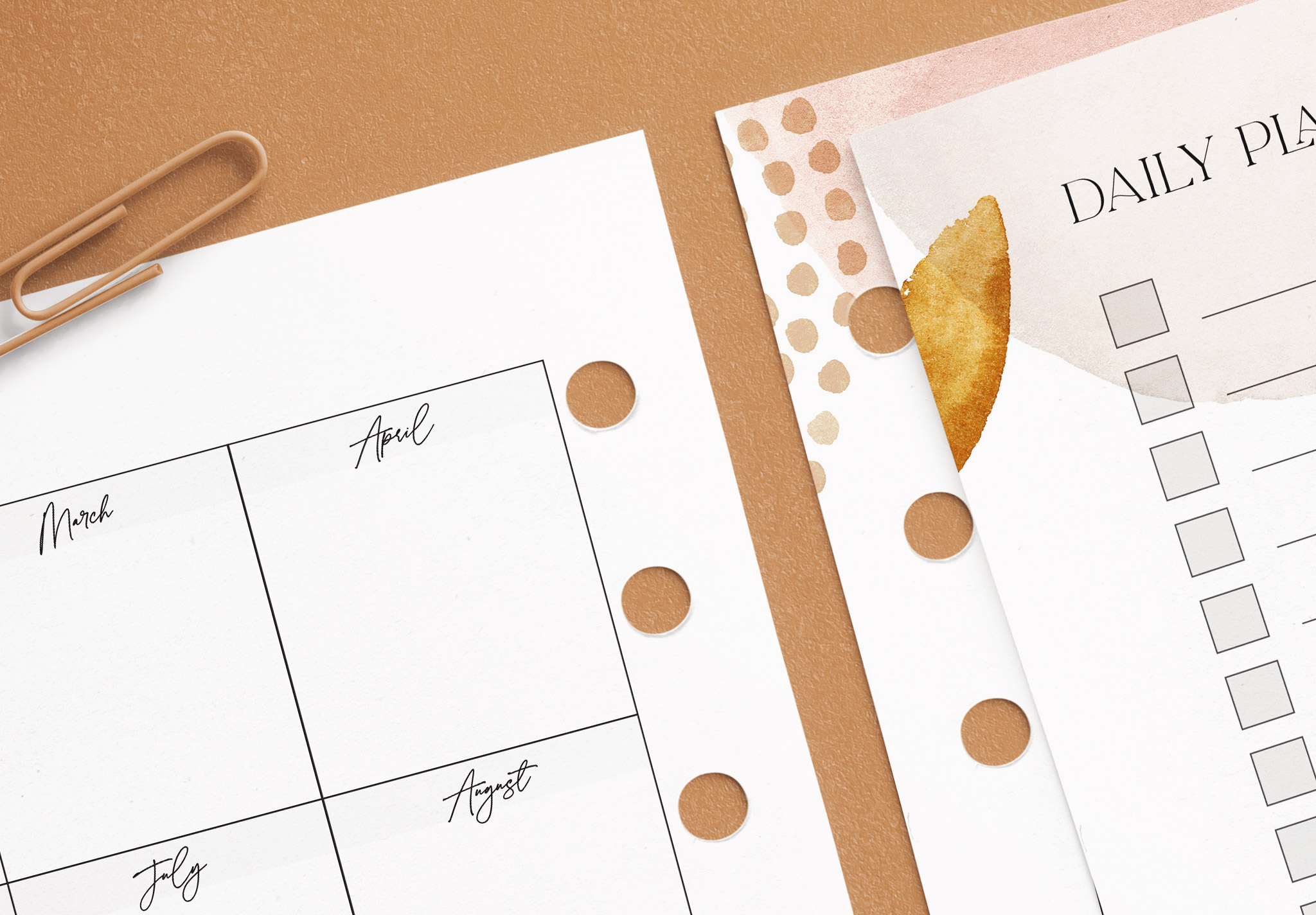 Planner Inserts US Letter Size Mockup image04