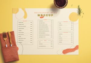 Table A3 Menu with Cutleries Napkin Drink and Herbs image03