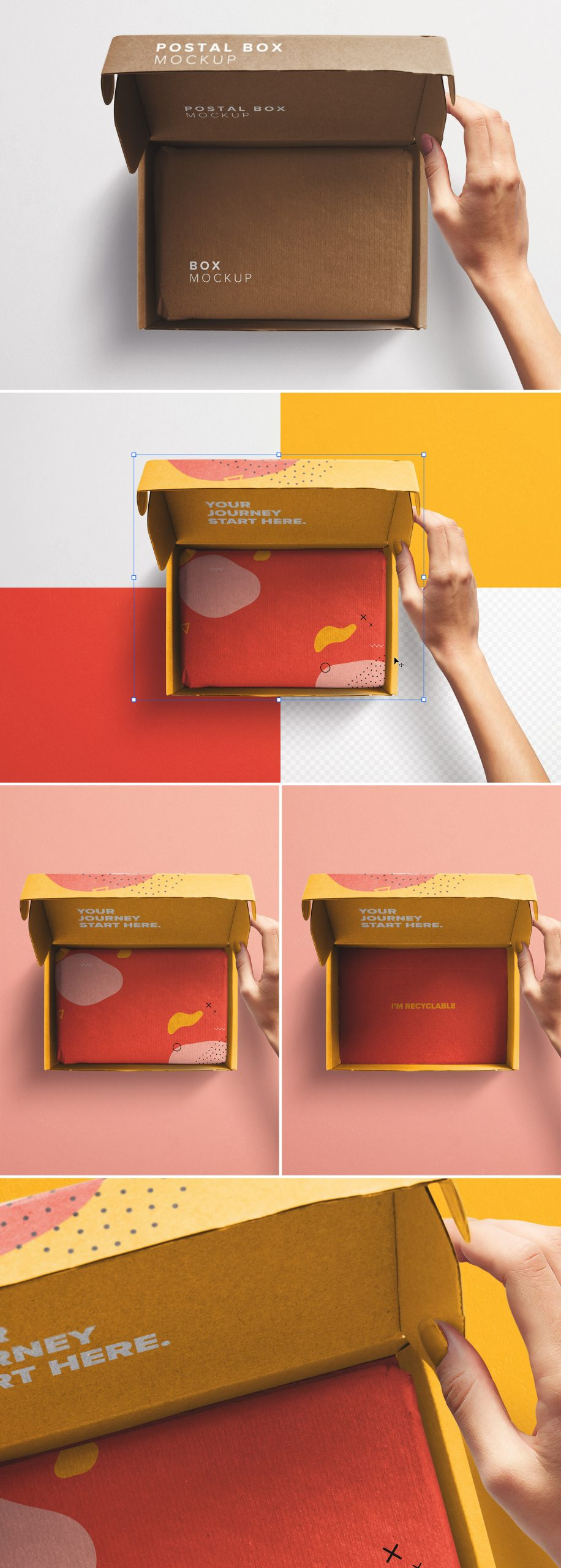 Hand Holding Opened Postal Box Lid Mockup preview scaled