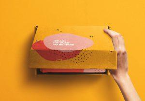 Hand Opening Postal Box Mockup image01