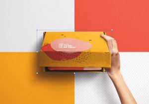 Hand Opening Postal Box Mockup image02