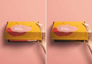 Hand Opening Postal Box Mockup image03