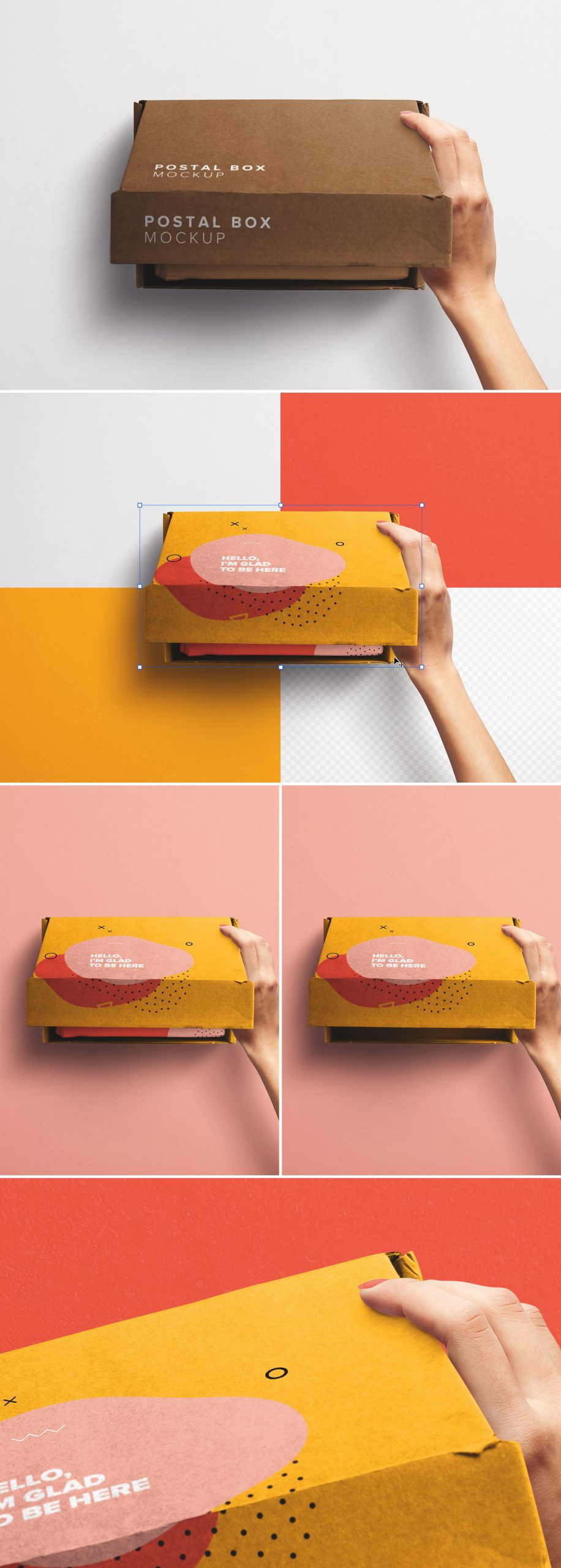 Hand Opening Postal Box Mockup preview scaled