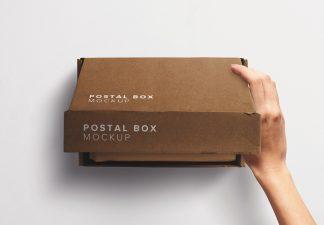 Hand Opening Postal Box Mockup thumbnail