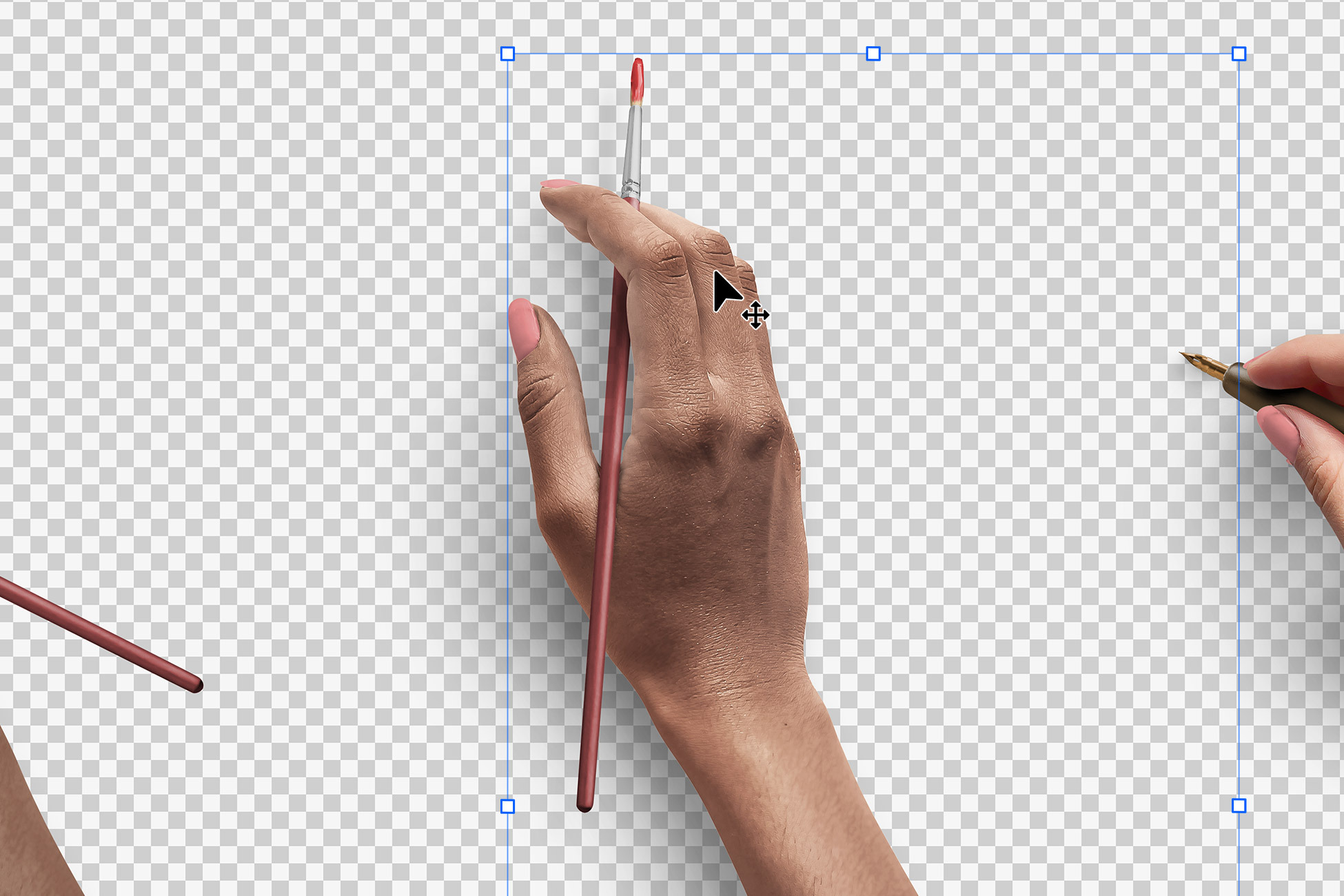 Hands Isolated Objects