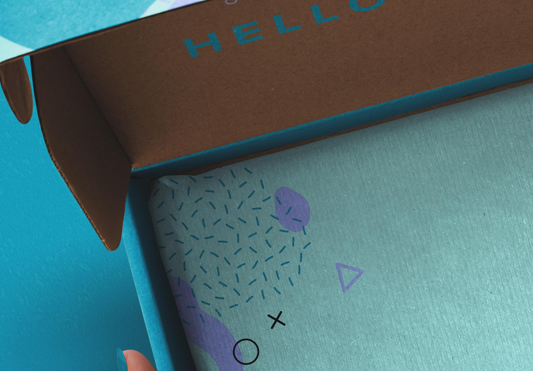 Hands Holding Opened Postal Box Mockup image04