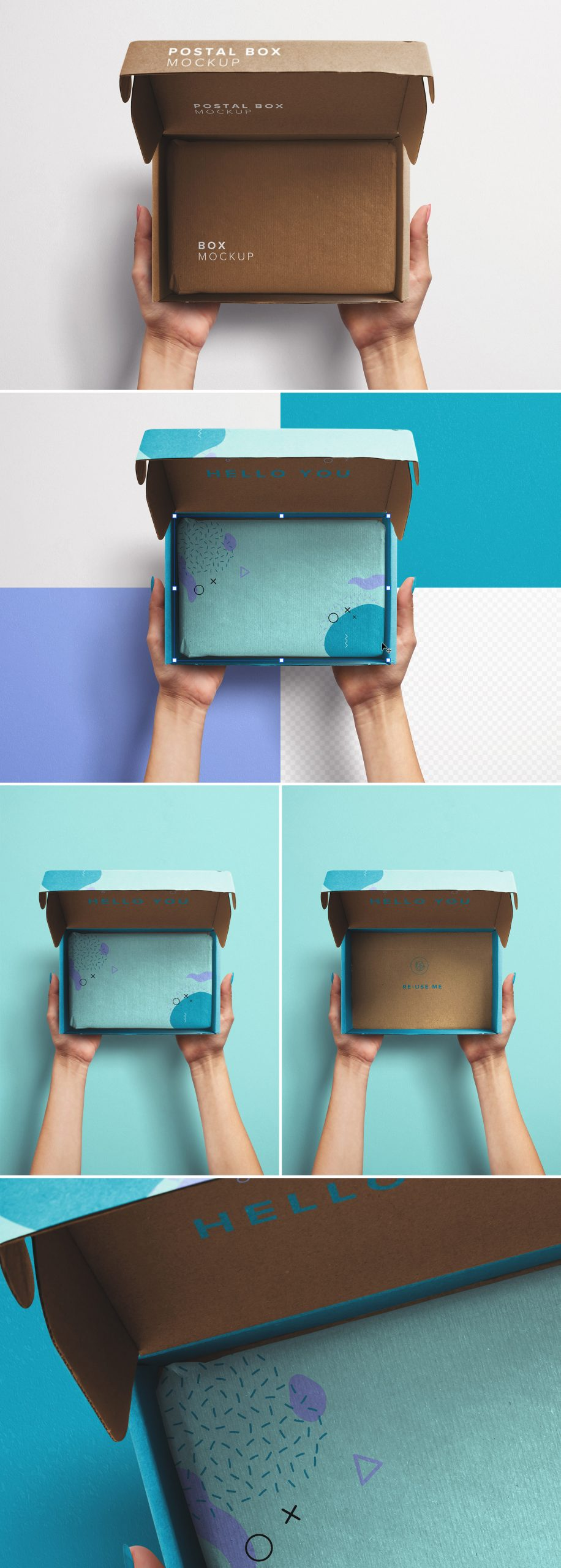 Hands Holding Opened Postal Box Mockup preview scaled