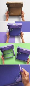 Hands Holding Opened Postal Box Mockup 2 preview scaled