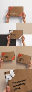 Hands Holding Postal Box with Ribbons preview scaled