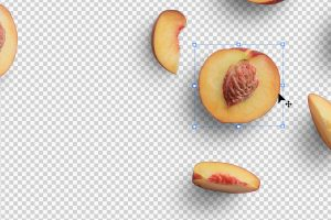 Peaches Fruit Isolated Objects
