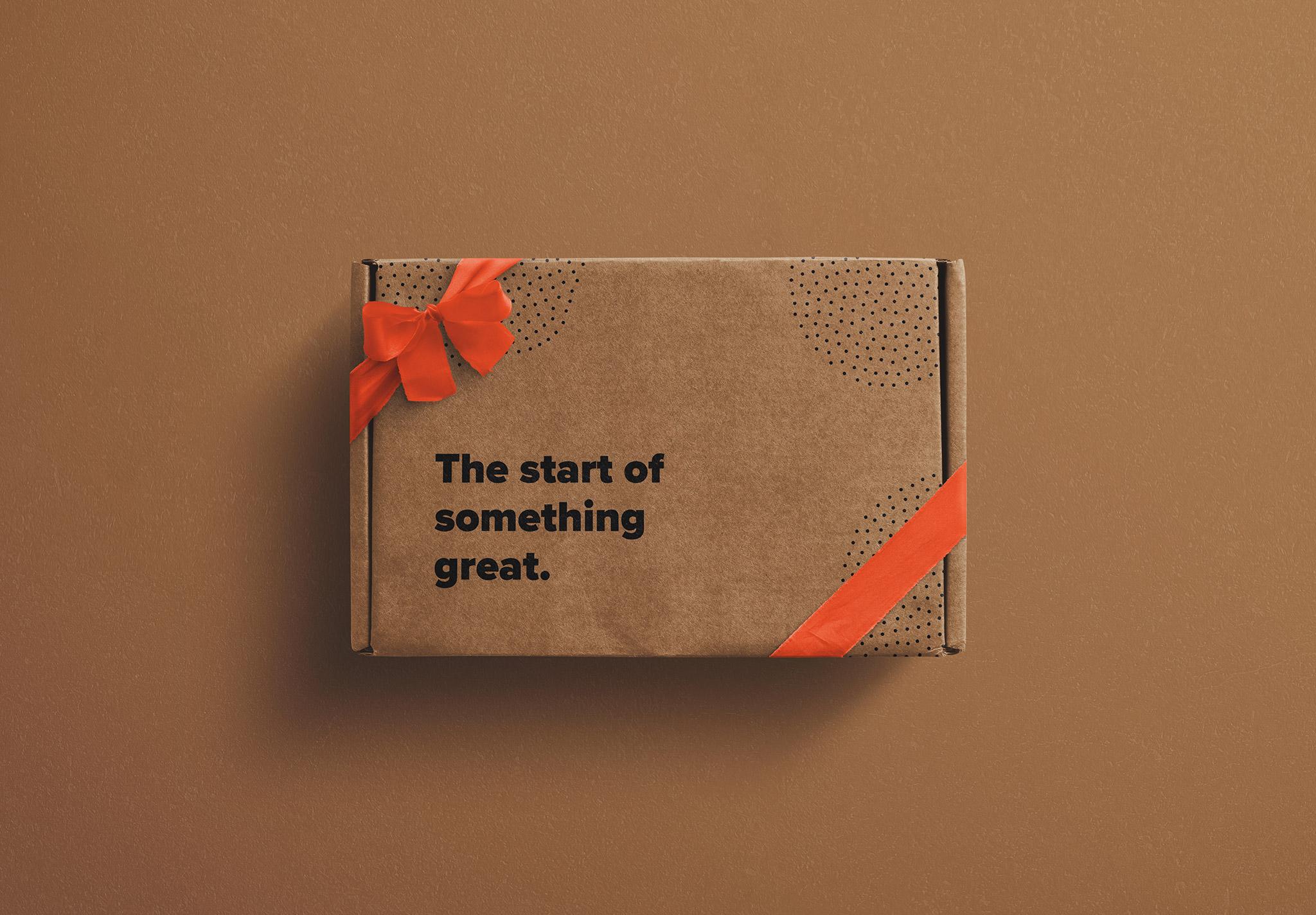 Postal Box with Bow and Ribbons Mockup image01