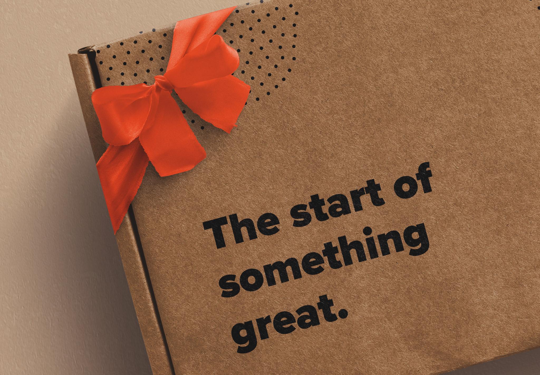 Postal Box with Bow and Ribbons Mockup image04