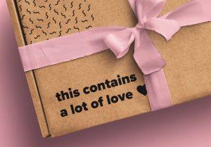 Postal Box with Bow and Ribbons Mockup 2 image04