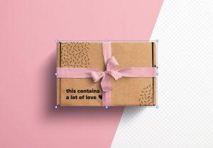 Postal Box with Bow and Ribbons Mockup 2 thumbnail 2