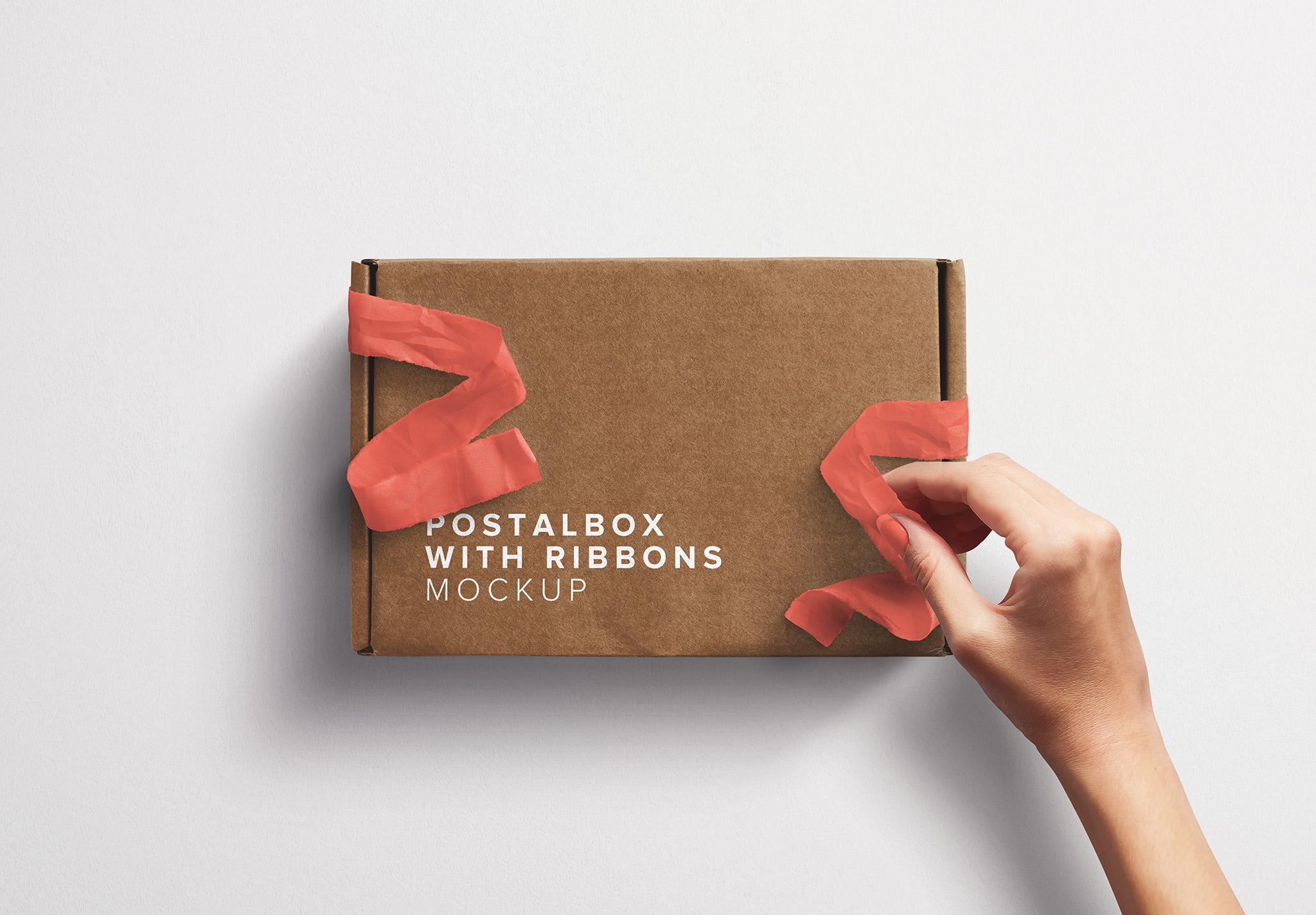 Postal Box with Hand Opening Ribbons thumbnail