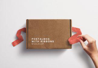 Postal Box with Hand Opening Ribbons 2 thumbnail