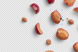 Prunes Fruit Isolated Objects