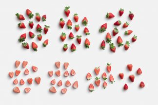 Strawberries Fruit Item Scene Creator