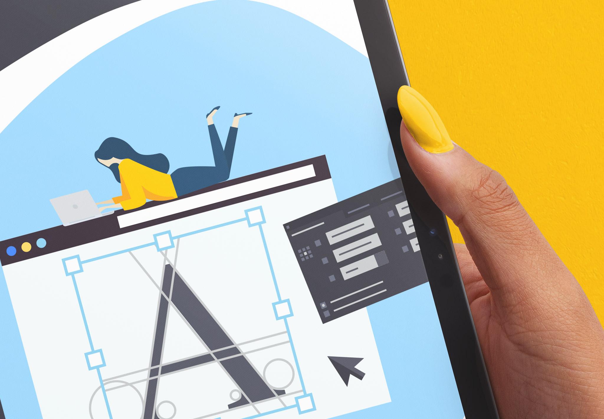 Hands Holding Tablet Pro Mockup Image04