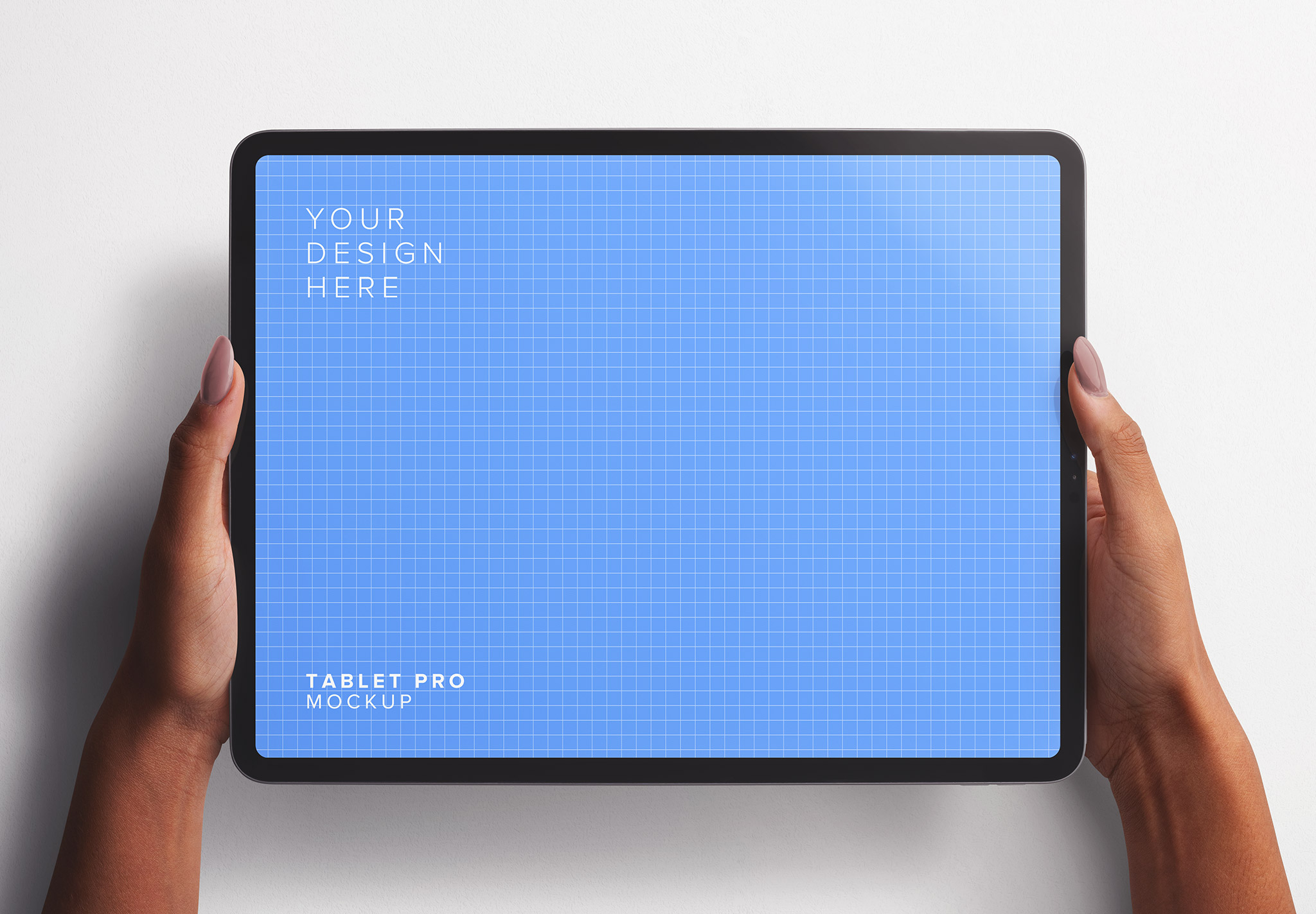 Hands Holding Tablet Pro Mockup Thumbnail
