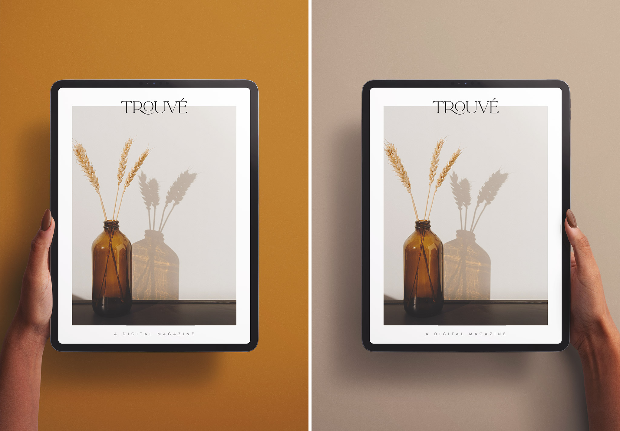 Hands Holding Tablet Pro Vertical Mockup Image03