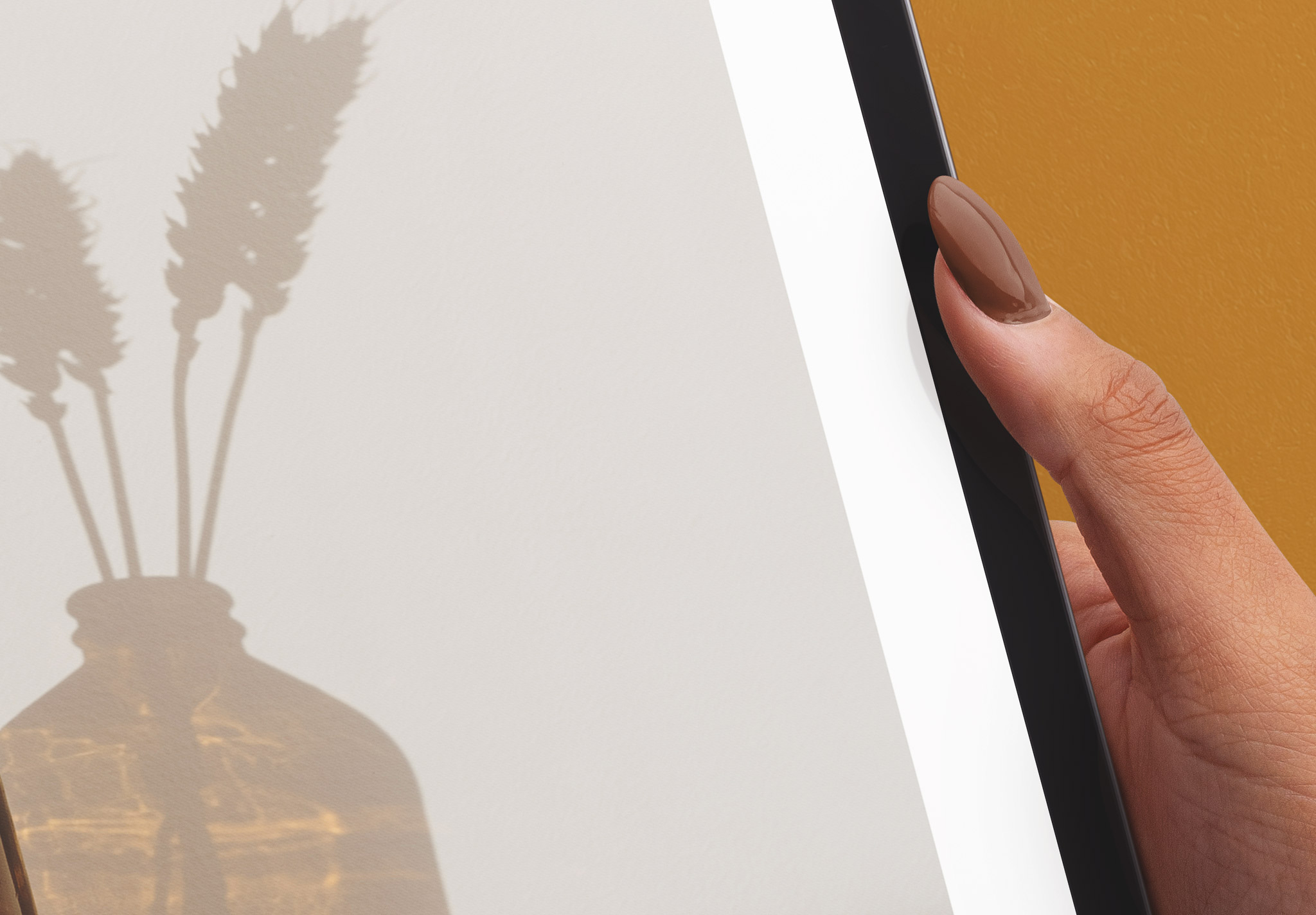 Hands Holding Tablet Pro Vertical Mockup Image04